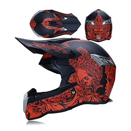LEENY Motocross Helm Motorrad Off-Road-Helm Enduro Motorradhelme Mountainbike-Helm Fullface Helm Moto-Cross Downhill MTB BMX Adult Unisex,XL