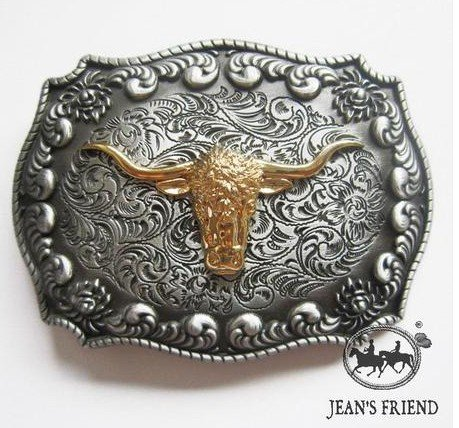 cinturon-de-hebilla-western-vintage-buckle-fun-hombre-fiesta-dorado-toro-cuernos