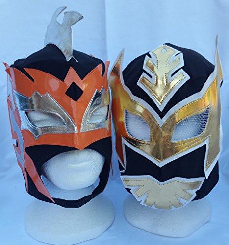 SCHWARZ - Sin Cara & Kalisto Lucha Drachen -Tag-Team -Kinder Wrestling -Masken ( Beide Masken ) [ GUEST WRESTLING EXCLUSIVE]