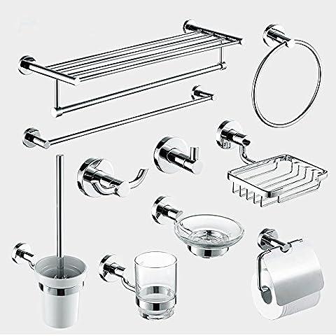 SBWYLT-Set accessori bagno moderno europeo di acciaio inox set di dieci
