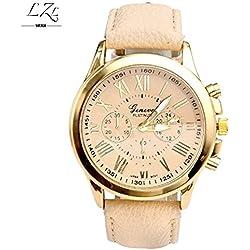 Fashion Roman Geneva Gold Platinum Quartz Watch Women PU Leather Wristwatch Casual Watches Reloj Ladies Analog Relogios Feminino