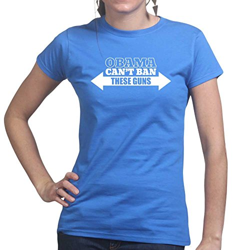Obama Can't Ban These Guns Control AR-15 Ladies T Shirt (Tee, Top) Royal Blue
