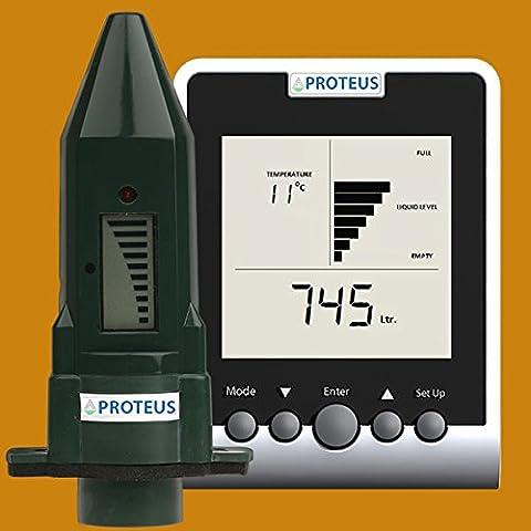 Jauge cuve à fioul sans fil et moniteur digital pour les réservoirs d'huile de chauffage avec émetteur radio - Ecometer