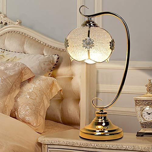 LANLAU Moderne Acryl Regentropfen Perlen Lampenschirm Metall Chrom Finish Base Acryl Tischlampe, Acryl Gold Tischlampe für Schlafzimmer Wohnzimmer