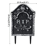 Yangshan 2019 Halloween Gartendekoration Schädel Skelett Pfote Grab Grabstein mit RIP Buchstaben Bad Omens Haunted House Dekor erschrecken Kinder (Color : 1set Garden Decor)