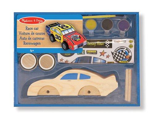 Melissa & Doug - 12370 - Loisir Créatif - Réalisez votre propre décoration : voiture de course en bois
