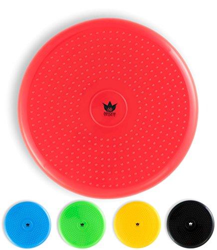 ZenBalance Balancekissen 33 cm inkl. Pumpe I Balance Kissen zum Sitzen mit Gratis E-Book & Workout-Guide I Aufblasbares Wackelkissen als Gleichgewichtstrainer für Kinder und Erwachsene (Rot)