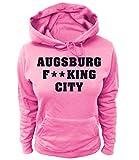 Artdiktat Damen Hoodie - Augsburg Fucking City Größe M, Rosa