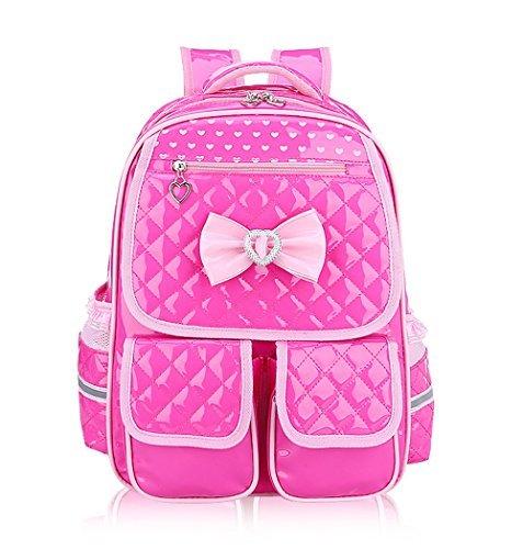 Tibes Cartella bambina Borse scolastiche Zaino scuola elementare bambina Zaino impermeabile Rose Pink