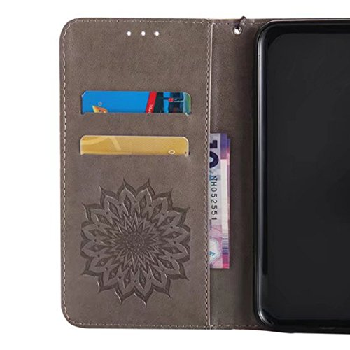 Cover per iPhone 5 Card Slots,Custodia per iPhone 5S ,Bonice Premium Multifunzionale Pelle Portafoglio Staccabile Detachable Removable Folio Zipper Protettivo Case Multiplo Extra Slot per Carte Conser Model 04