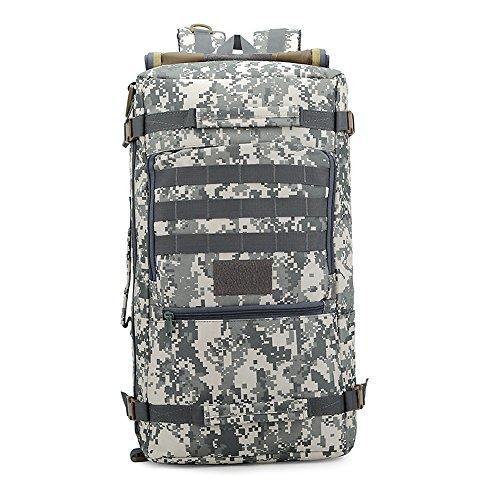 e-jiaen zaino 75L alta capacità borse a tracolla/borsa per archiviazione o organizzatore di Comping trekking viaggio alpinismo sport accessori da pesca, C1 Grey