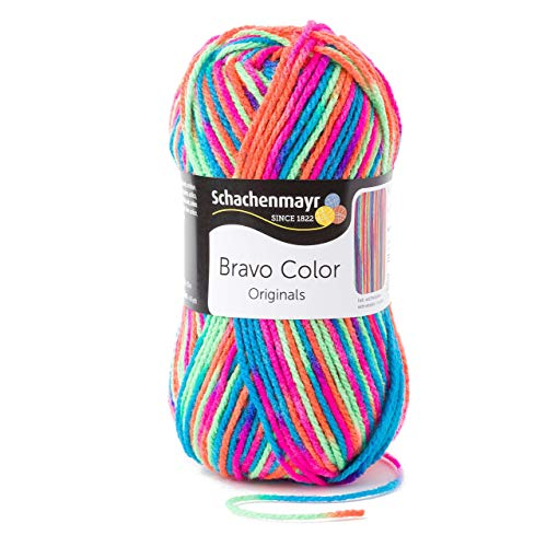 Schachenmayr Bravo Color 9801421-00095 electra Handstrickgarn, Häkelgarn -