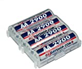 7dayshop AA 2900 Ni-Mh High Performance Rechargeable Batteries - 4 Pack