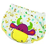 Sharplace Reusable Nappies Training Pants 3 Layers Baby Waterproof Cotton Potty Urinate Pants - Cow, 5-14 Months