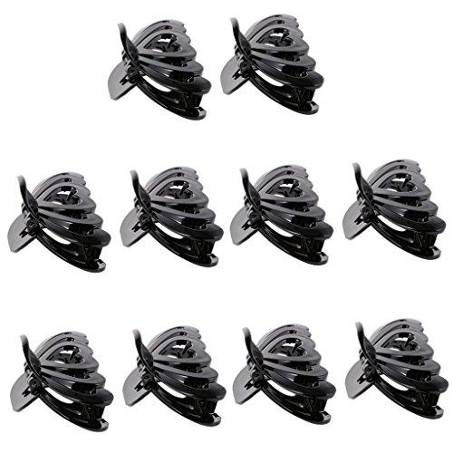 MagiDeal Lot de 10pcs Pince Crabe à Cheveux Forme Papillon Accessoire Cheveux pour Femme - Noir