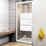 Schulte Duschkabine Drehtür Nische Vita, 69-81x185 cm, 5 mm Sicherheits-Glas Depoli light, weiß, ausziehbare Duschtür