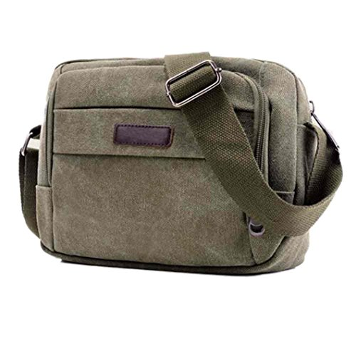 Borsa sportiva Canvas, Unisex Fashion Canvas borsa borsa a tracolla all'aperto Sport Bag di Kangrunmy Verde dell'esercito
