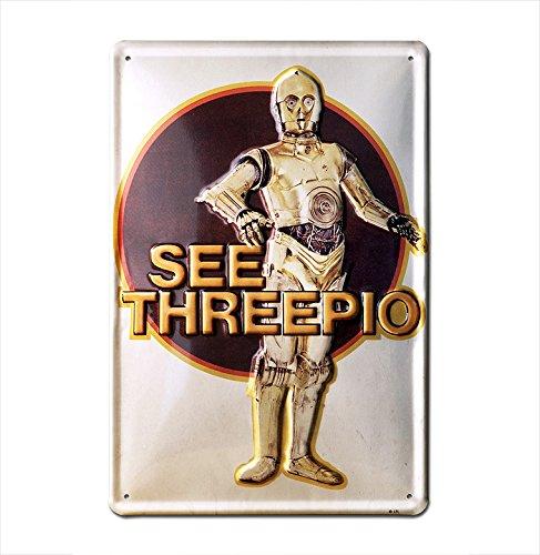 Gebraucht, Star Wars - See Threepio - C-3PO Bleschilder Retro gebraucht kaufen  Wird an jeden Ort in Deutschland