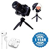 #9: Captcha 228 Mini Tripod Stand Flexible Stand With Stereo Earpod Mic And Volume Controller with 3.5Mm Jack Compatible with Xiaomi, Lenovo, Apple, Samsung, Sony, Oppo, Gionee, Vivo Smartphones (One Year Warranty)