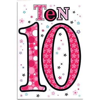Twizler Geburtstagskarte für den 10. Geburtstag, Motiv