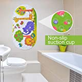 Kids Bath Mat Non-Slip Shower Mat Anti-Bacterial Shower Tub Mat for Babies Toddlers and Children Cute Animals Pattern