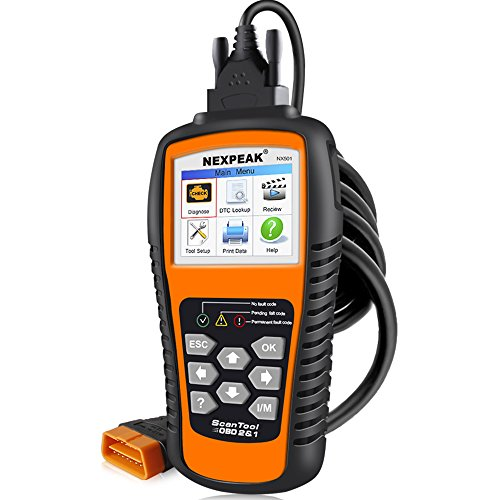 Motor-code Scanner (NEXPEAK Car Universal OBDii Scanner Automative OBD2 NX501 Code Leser OBDII Diagnose Auto Motor Überprüfen Scanner Werkzeug KFZ PKW Fehlerauslesegerät- Orange)