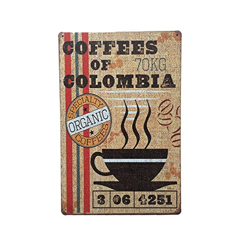 Imported COFFEE Metal Tin Sign Art Poster Home Cafe Bar Pub Vintage Plaque Decor 14  available at amazon for Rs.375
