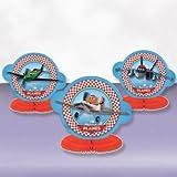 3 mini décorations de table assorties Disney Planes - 16cm
