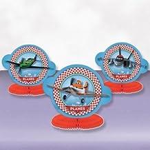 Amscam - Mini centrotavola Planes, confezione da 3 pezzi