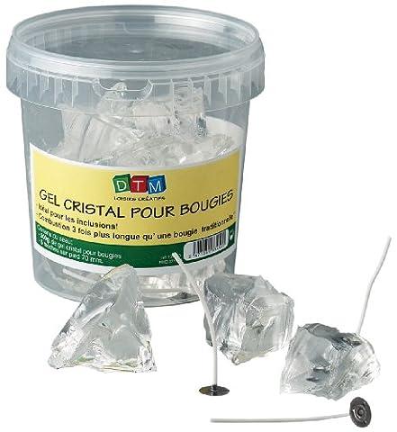 Dtm 133460 Moule à bougie/Pot de 800 g de gel de cristal + 8 mèches