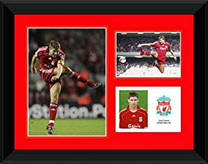 Steven Gerrard framed player profile presentation from Spirit of Sport