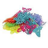 MagiDeal 100 Stück Bastelfilz Applikation Stoff Filz-Schmetterling zum Basteln für Kinder Kunsthanswerk - Mehrfarbig1