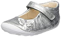Clarks Baby-Girls Little Mia Crawling Shoes, Silver (Silver Leather), 4.5 UK