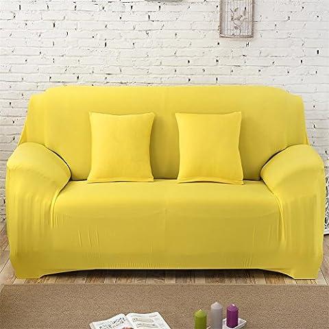 Hotniu Stretch Housse de Canapé Réversible 1 Pièce Housse de sofa Home(3 Places,Jaune #1)