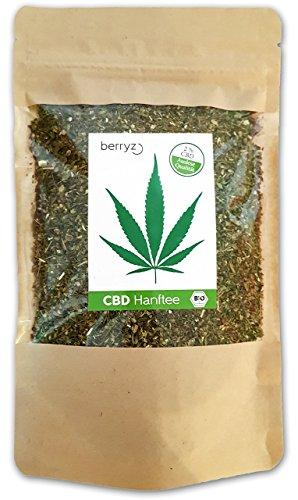 berryz CBD Hanf Tee + Das Original mit 2% CBD + BIO ÖKO + Cannabis Sativa aus biologischem Anbau + 50g + THC < 0.2%
