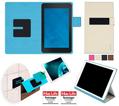 reboon Hülle für Dell Venue 7 Tasche Cover Case Bumper | in Beige | Testsieger