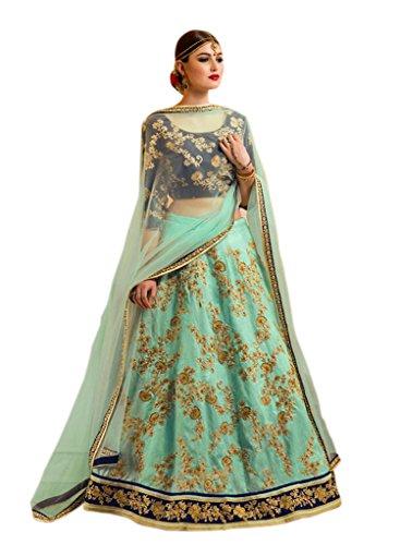 Caffoy Cloth Company Lehenga Choli (CL13_Green_Free Size)
