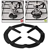 AMOS Gas Ring Reducer Trivet Stove Top Hob Cooker Heat Simmer Coffee Pots Cafetiere Espresso Makers Pans Kitchen Utensil (Black)