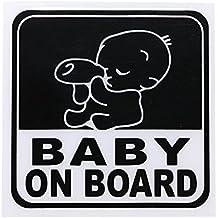 Jiayuane Pegatinas reflectantes del coche Pegatinas de advertencia de seguridad del bebé Signo del bebé a bordo para su automóvil o auto
