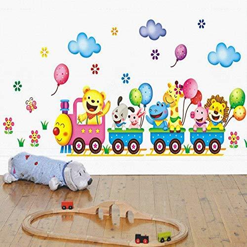 Cartoon zug wandaufkleber für kinderzimmer wohnkultur kindergarten wandtattoo kinder poster baby haus wandbild diy dekoration aufkleber -