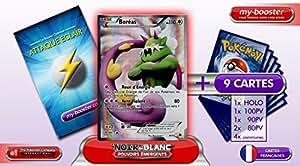 BOREAS 98/98 Full Art 110PV Pouvoirs Emergents - Booster optimisé Attaque Eclair de 10 cartes pokemon Francaises