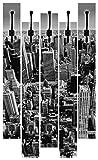 Artland Qualitätsmöbel I Garderobe mit Motiv 5 Holz-Paneele mit Haken 68 x 114 cm Städte Amerika Newyork Foto Schwarz Weiß D8OX Luftbild von Manhattan, New York City. USA.