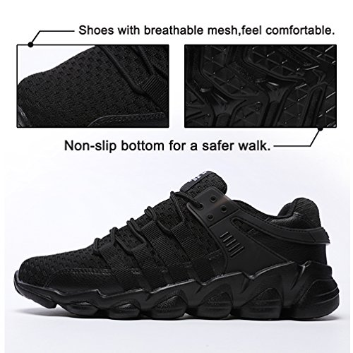 allAperto Corsa Ginnastica Mesh Uomo JINDENG Running da Sportive Shoes Scarpe da Sneakers Sport Nero Casual 4HRPq0wHx