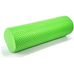 hjuns–Juego de rodillo de espuma para yoga pilates fitness masaje muscle liberación, verde