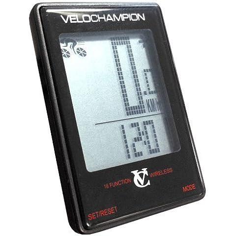 VeloChampion Ordenador Inalambrico para Bicicleta 16 Funciones Ciclocomputadora Cycle Computer