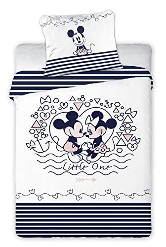 Copripiumino 100 X 140.Mickey Minnie Biancheria Da Letto Per Bambini Copripiumino 100