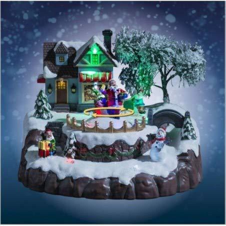 Village de Noël père Noël animé, Musical et Lumineux
