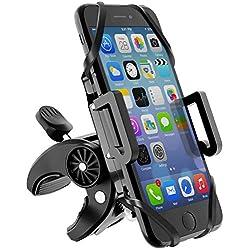 Beikell Support Téléphone Vélo, Support Téléphone Moto Support Vélo du Guidon Rotatif à 360 Degrés Anti-Vibrations Réglable pour Smartphone iPhone, Samsung, Huawei, etc