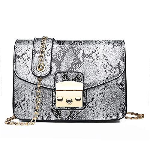 Clutch Aus Weißem Leder Handtaschen (PXPXNB Damen-Schultertaschen Damen-Umhängetaschen Damen-Henkeltaschen Damen-Shopper Damen-Clutches Damentasche Schlangenleder Handtaschen weiß)