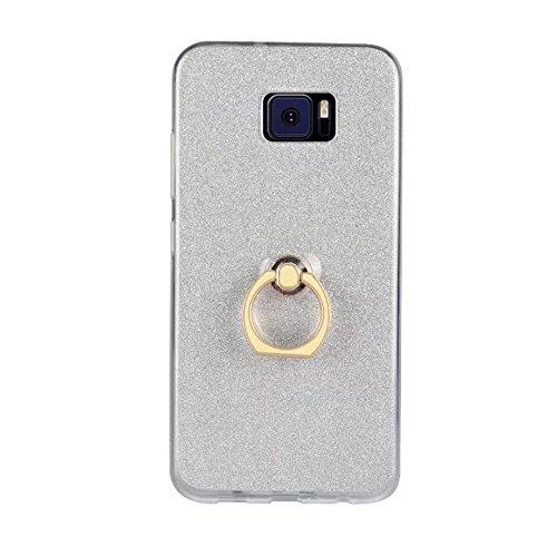 EKINHUI Case Cover Soft Flexible TPU Back Cover Case Shockproof Schutzhülle mit Bling Glitter Sparkles und Kickstand für Asus ZenFone 4 VV520KL ( Color : White ) White